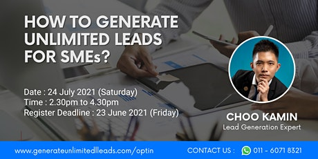 FREE TRAINING: Generate Unlimited Leads For SMEs On Automation (Weekend) tickets