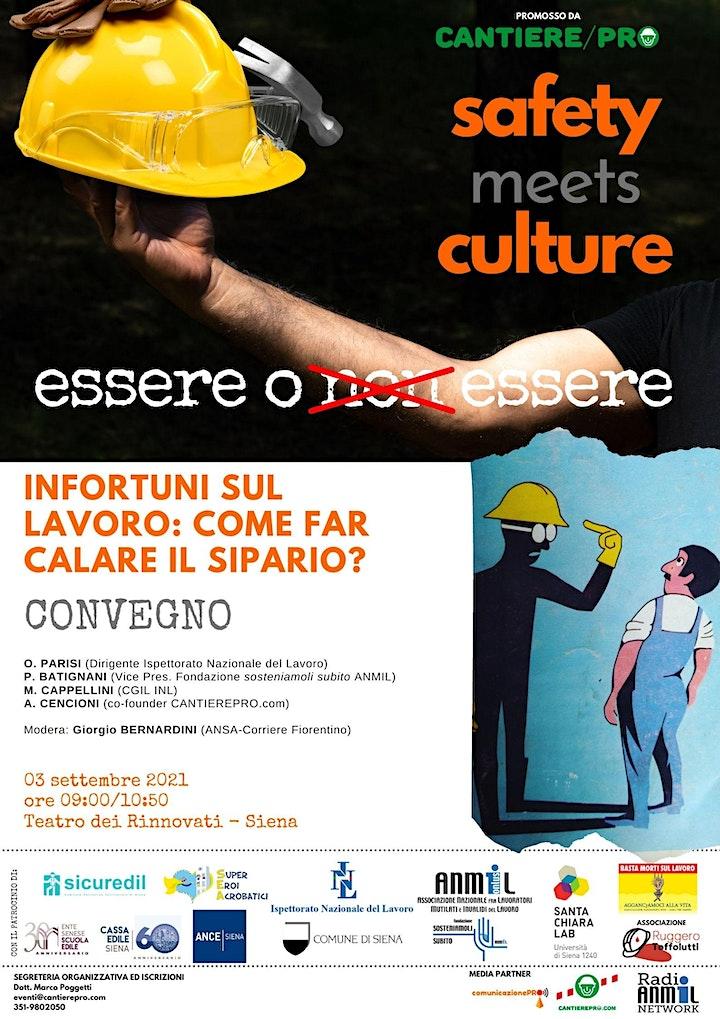 Immagine SAFETY Meets CULTURE <21: eventi venerdì 3 settembre