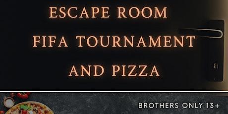 Escape room, Fifa Tournament and Pizza! tickets
