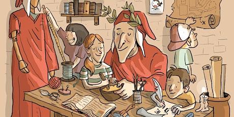 Laboratorio di fumetto per ragazzi: Roby Il Pettirosso disegna Dante. biglietti