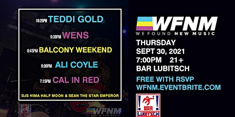 TEDDI GOLD / WENS / BALCONY WEEKEND / ALI COYLE / CAL IN RED tickets