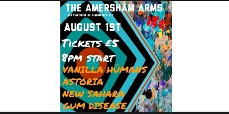 Vanilla Hümans + Support live at The Amersham Arms tickets