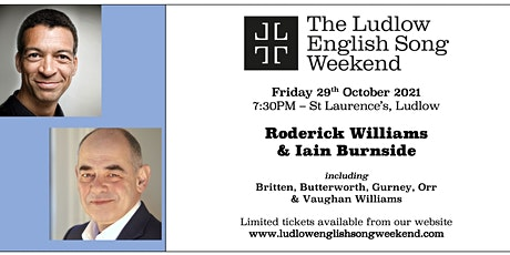 LESW21 - Opening Recital with Roderick Williams and Iain Burnside tickets