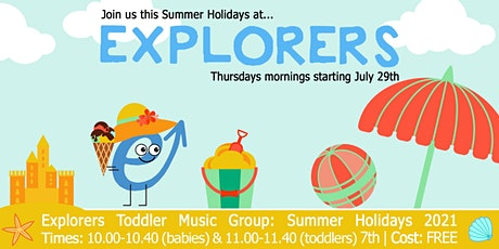 Explorers Music Group for babies & toddlers: Summer Summer Sessions tickets