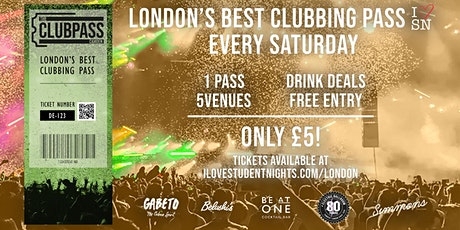 The Club Pass Camden // Student Club Crawl // 5 Venues // Drink Deals and M tickets