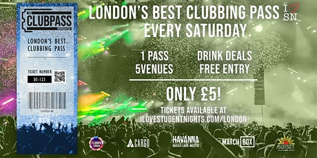 The Club Pass Shoreditch // Club Crawl // 5 Venues // Drink Deals and MORE! tickets