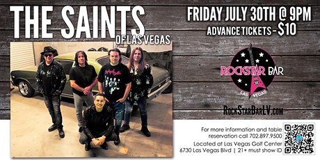 Saints of Las Vegas Live on Stage! at The All - New Rockstar Bar, Las Vegas tickets