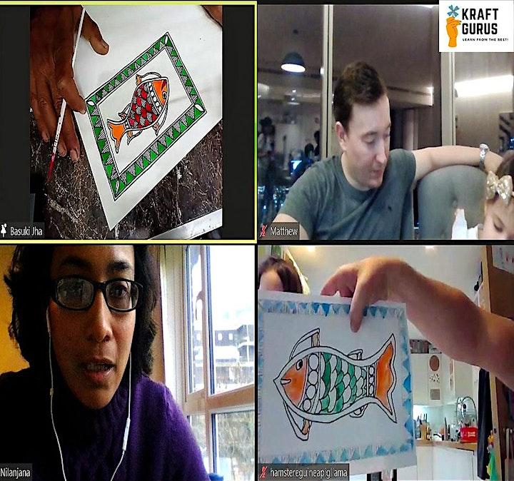 Madhubani Painting-Summer Holidays  Workshop! 2 Workshops Discount image