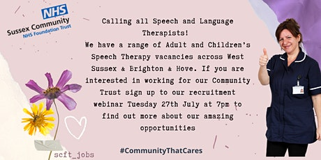 Calling all Speech and Language Therapists!  Come join our marvellous Team! tickets