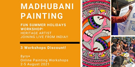Madhubani Painting-Summer Holidays  Workshop! 3 Workshops Discount tickets
