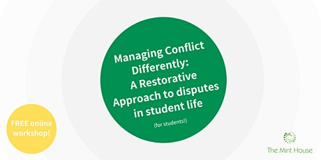 Managing Conflict Differently (October 2021) tickets