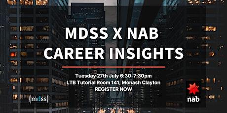 MDSS x NAB Career Insights tickets