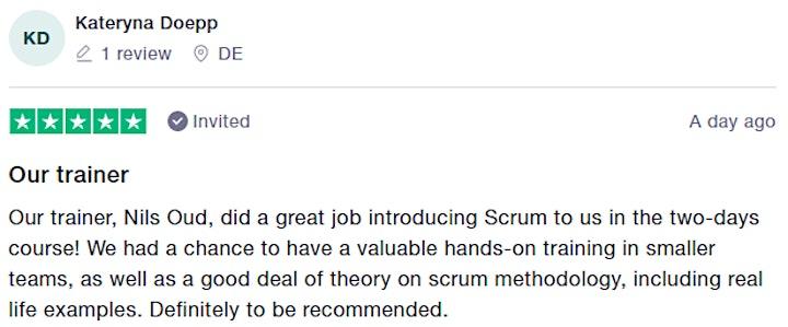 Certified Scrum.org Training   Applying Professional Scrum (APS) image