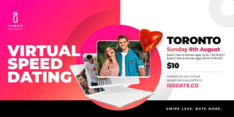 Isodate's Toronto Virtual Speed Dating - Swipe Less, Date More tickets