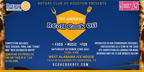 1st Annual Rotary Club of Houston Cook Off tickets