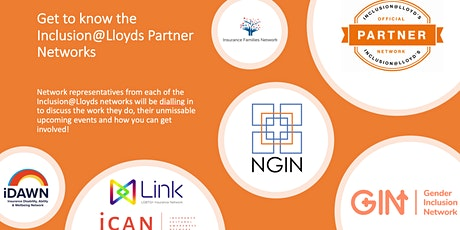 Get to know the Inclusion@Lloyds Partner Networks tickets