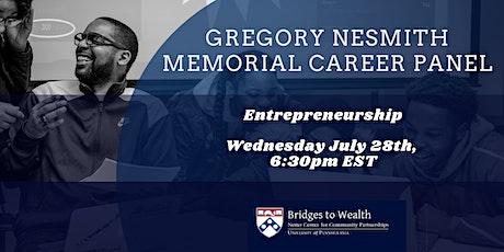Entrepreneurship: The Gregory Nesmith Memorial Career Panel biljetter