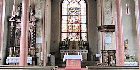 Hl. Messe  an der Mariengrotte am 21.08.2021 entradas