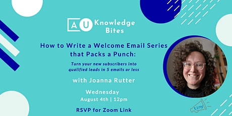 How to Write a Welcome Email Series that Packs a Punch tickets