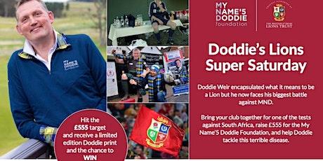 Join Doddie's Lions Super Saturday at Newbury Rugby Club tickets