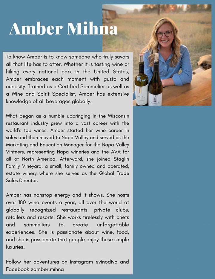Staglin Family Vineyard Dinner & Paring Experience image