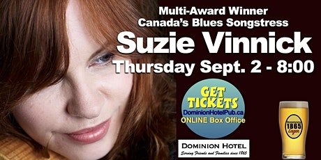 """Suzie Vinnick LIVE at the """"D"""" tickets"""