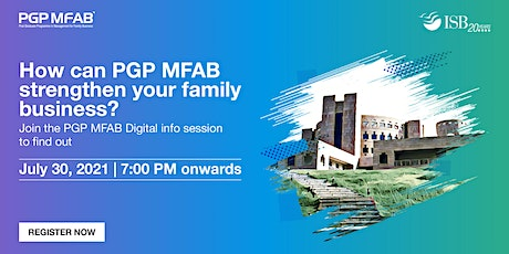 ISB (PGP MFAB) Family Business Digital Infosession | East Region tickets