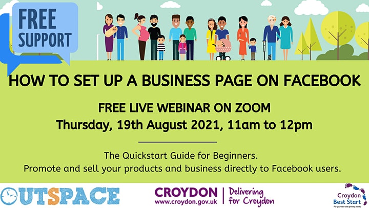How to set up a  Facebook Business Page  - for Croydon families & residents image