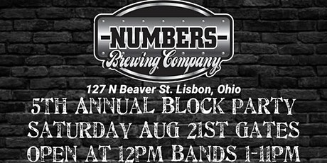 Numbers Brewing Company Annual Block Party tickets