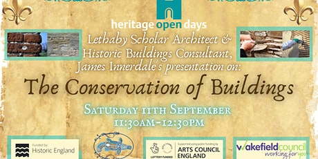 James Innerdale's presentation on:The Conservation of Buildings tickets