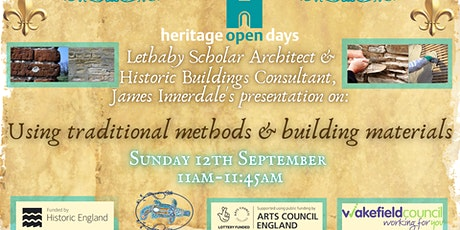 James Innerdale's Using Traditional Methods and Building Materials tickets