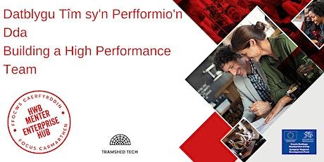 Datblygu Tîm sy'n Perfformio'n Dda | Building a High Performance Team tickets