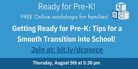 Getting Ready for Pre-K: Tips for a Smooth Transition into School tickets