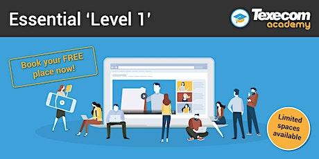 Level 1 -  Online  Essentials workshop biglietti