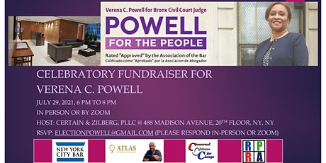 Celebratory Fundraiser for Verena C. Powell tickets