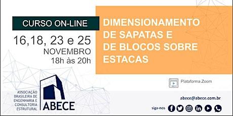 Curso Online: Dimensionamento de Sapatas e de Blocos sobre Estacas ingressos