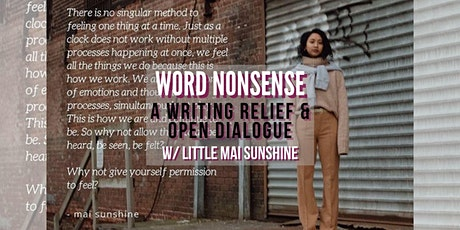 Word Nonsense: A Writing Relief & Open Dialogue Virtual Workshop tickets