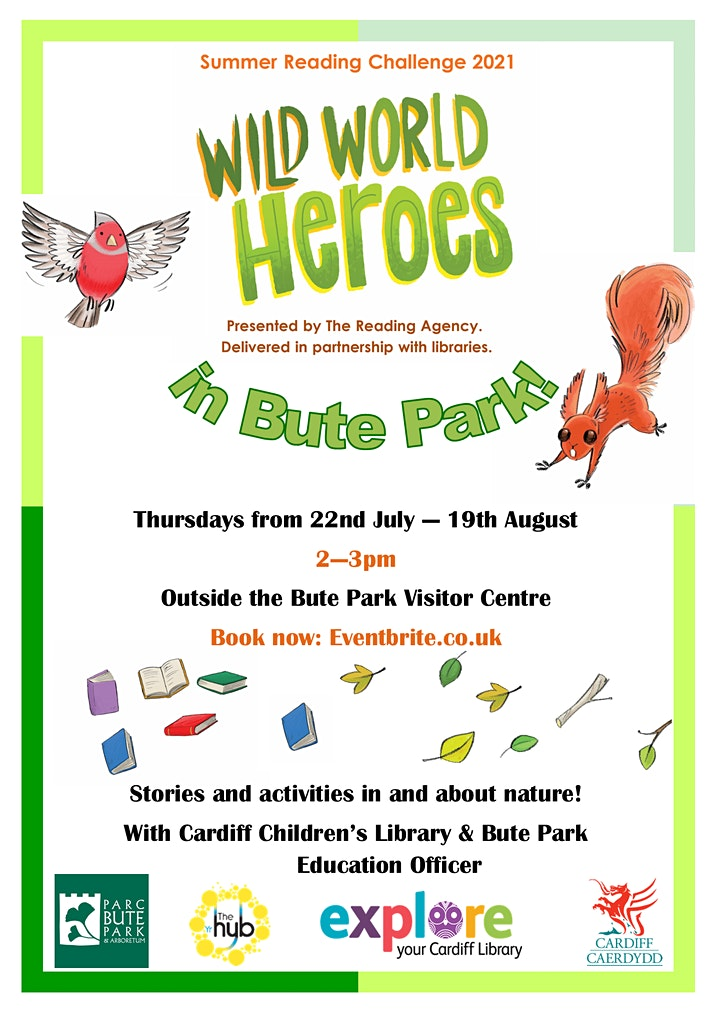 Summer Reading Challenge 2021: Wild World Heroes in Bute Park image