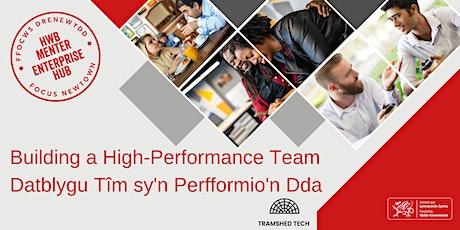 Building a High-Performance Team |Datblygu Tîm sy'n Perfformio'n Dda tickets