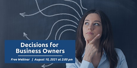 Decision Making for Business Owners tickets