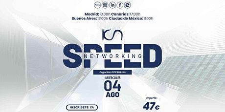 KCN Bizkaia Speed Networking Online 4 Ago entradas
