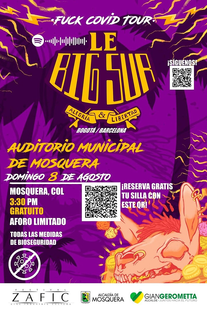Imagen de LE BIG SUR, banda Colombo Catalana en el Auditorio Municipal de Mosquera