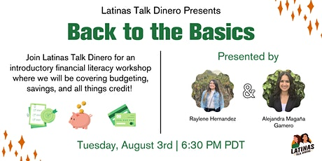 Back to the Basics of Financial Literacy with Latinas Talk Dinero tickets