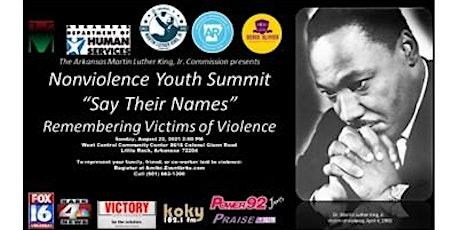 """2021 Nonviolence Youth Summit """"Say Their Names"""" Vigil tickets"""