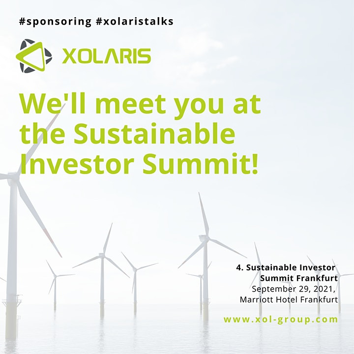 We'll meet you at the Sustainable Investor Summit!  XOLARIS Group Talks image
