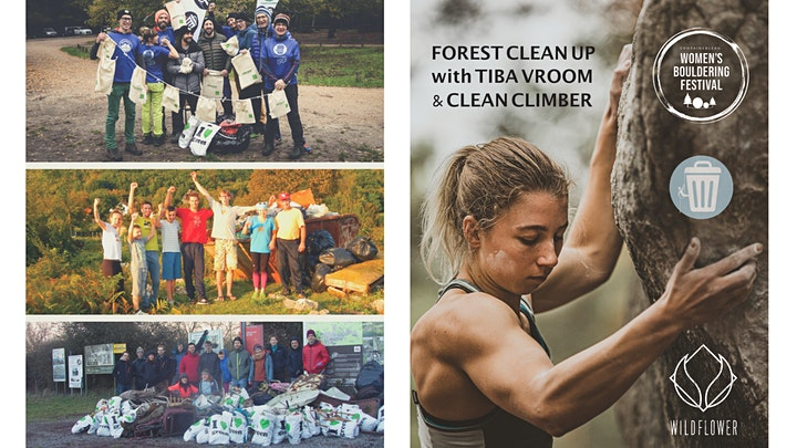 Clean Climber Clean Up with Tiba Vroom | WOMEN'S BOULDERING FESTIVAL 2021 image