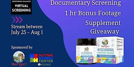 Restoring Balance: Autism Recovery Documentary Screening tickets