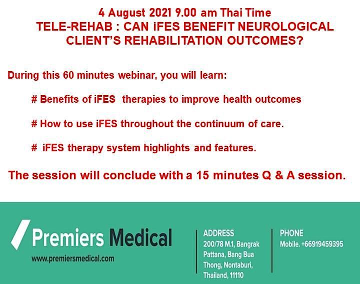 TELE-REHAB: CAN iFES BENEFIT NEUROLOGICAL CLIENTS' REHABILITATION OUTCOMES? image
