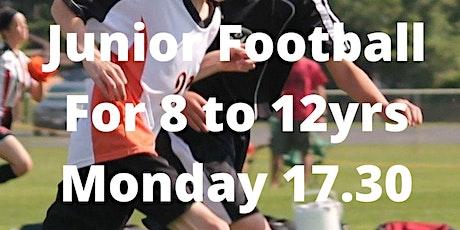 Monday Junior Football  - 30th August 2021 tickets
