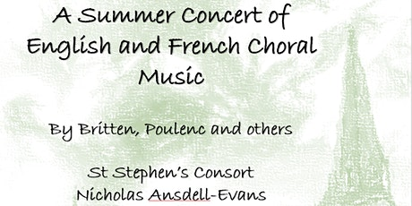 St Stephen's Consort Summer Concert tickets